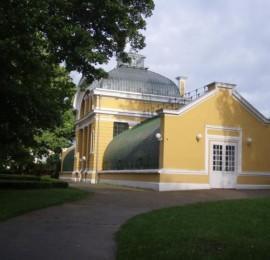 Palmový skleník v zámeckém parku Kopidlno
