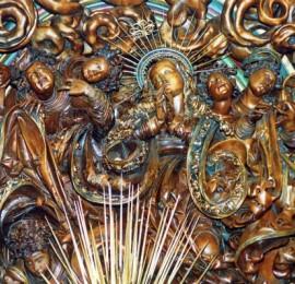 Světelský oltář, Kostel Sv. Barbory, Adamov